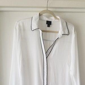 XL Worthington white office blouse